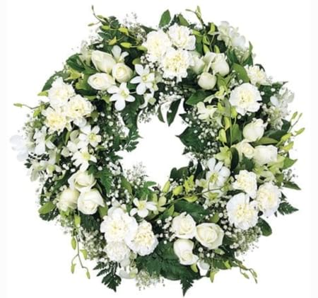 Elegantly White Wreath